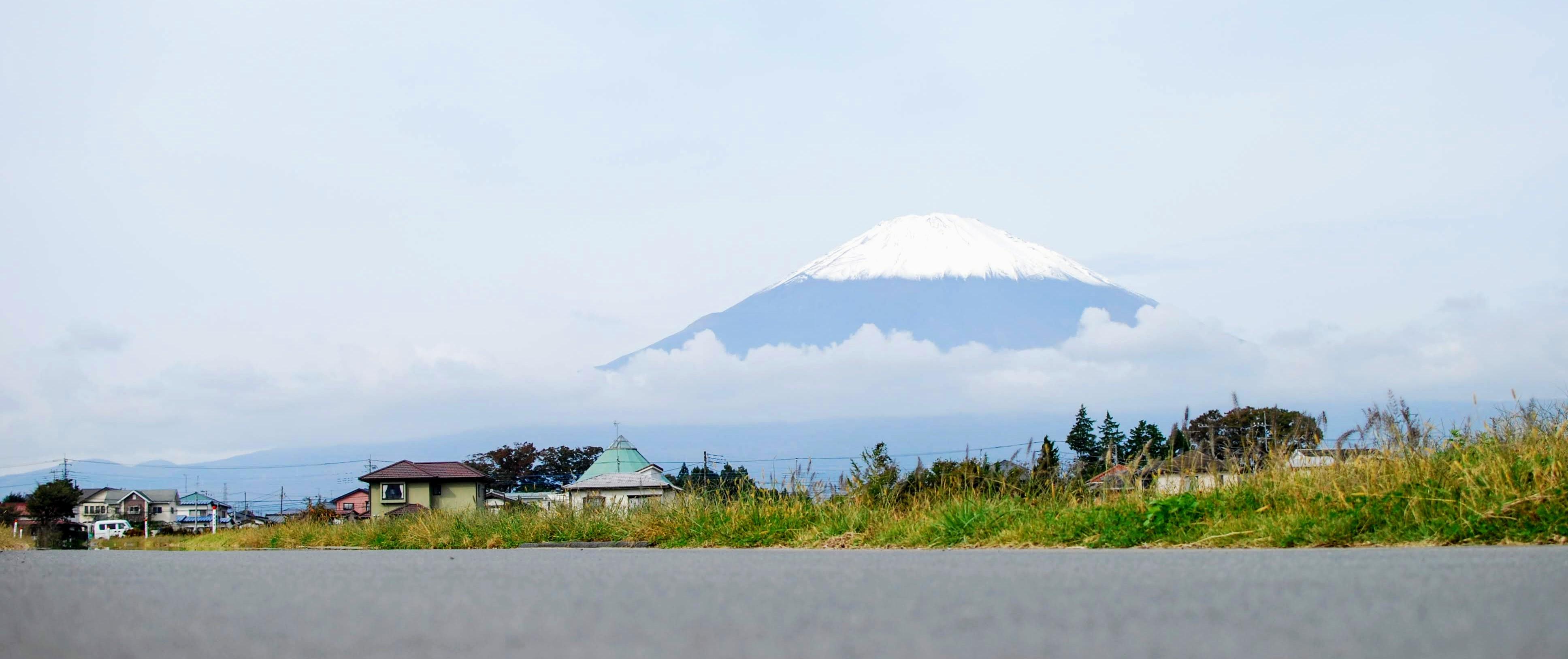 富士山も真っ白❅