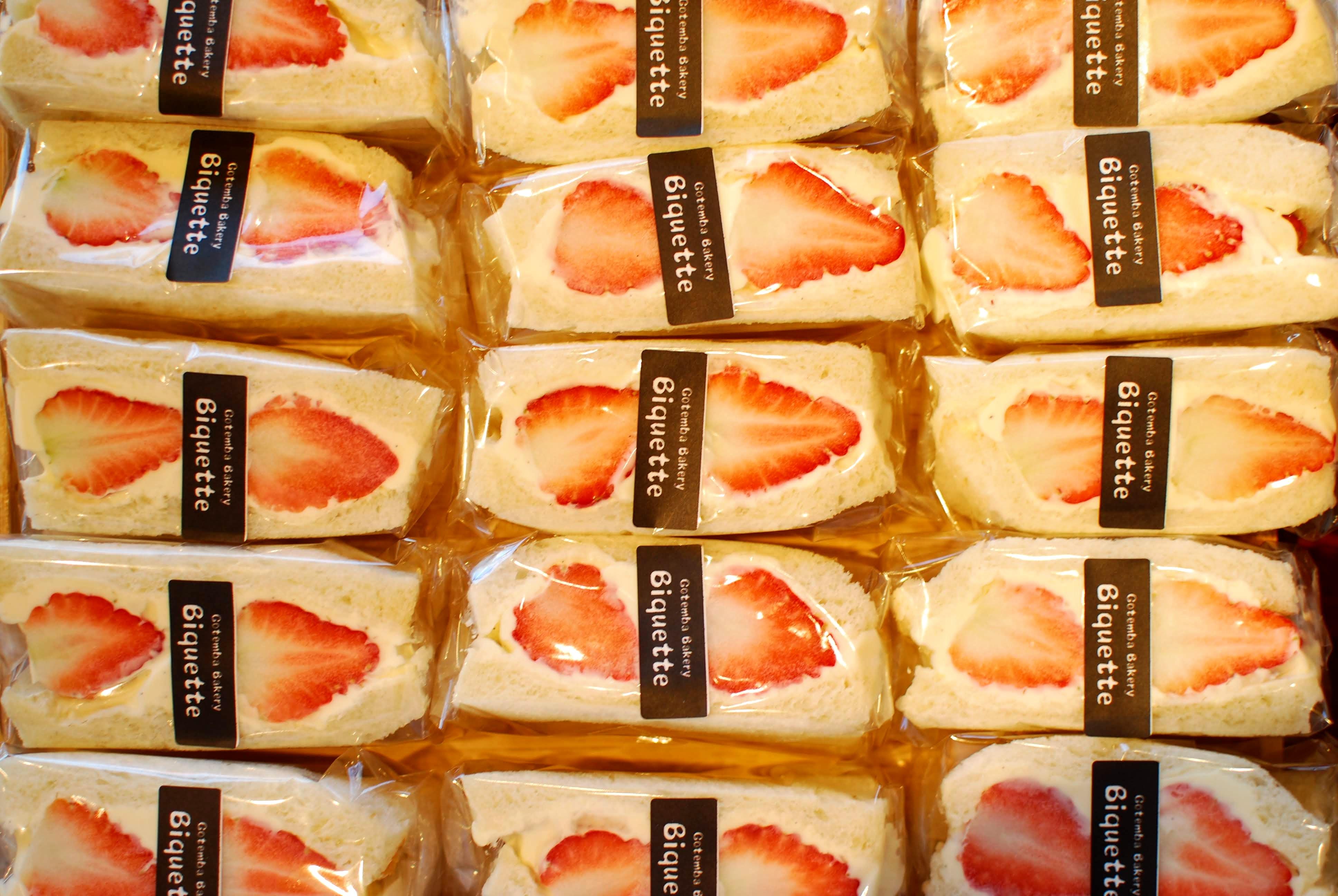 春の大人気商品「イチゴのフルーツサンド」